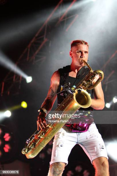 Leo Pellegrino performs during the 2018 Festival International de Jazz de Montreal at Quartier des spectacles on July 5th 2018 in Montreal Canada