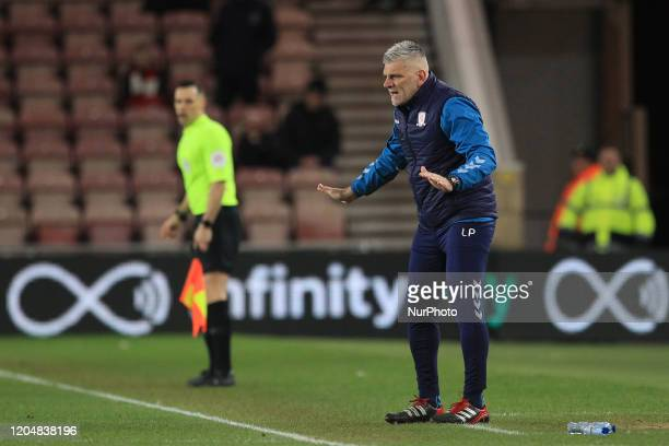 Leo Percovich the Middlesbrough 1st team coach during the Sky Bet Championship match between Middlesbrough and Nottingham Forest at the Riverside...