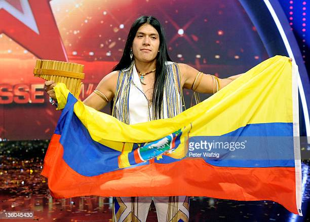 Leo Santillan Rojas during the winners photocall of 'Das Supertalent' TV Show on December 17 2011 in Cologne Germany
