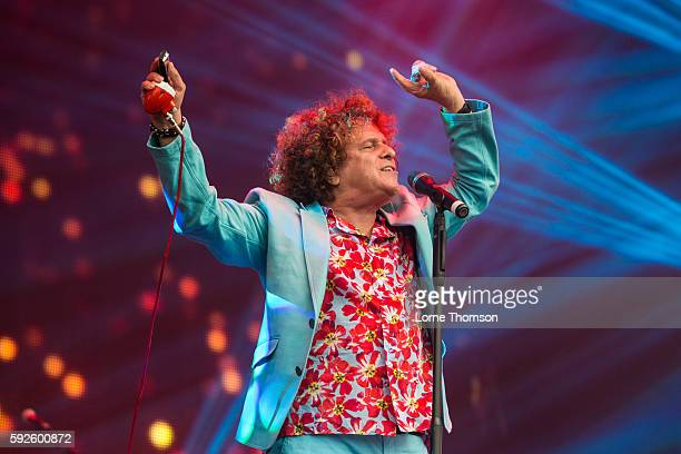 Leo Sayer performs at Rewind South at Temple Island Meadows on August 20 2016 in HenleyonThames England