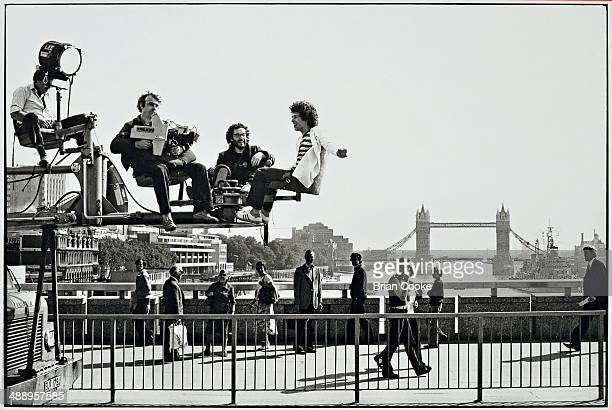 Leo Sayer photographed while making a promotional film on location in Central London on 11th September 1979