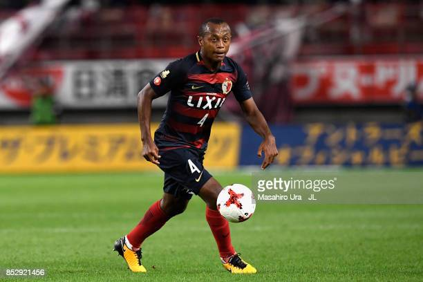 Leo Silva of Kashima Antlers in action during the JLeague J1 match between Kashima Antlers and Gamba Osaka at Kashima Soccer Stadium on September 23...