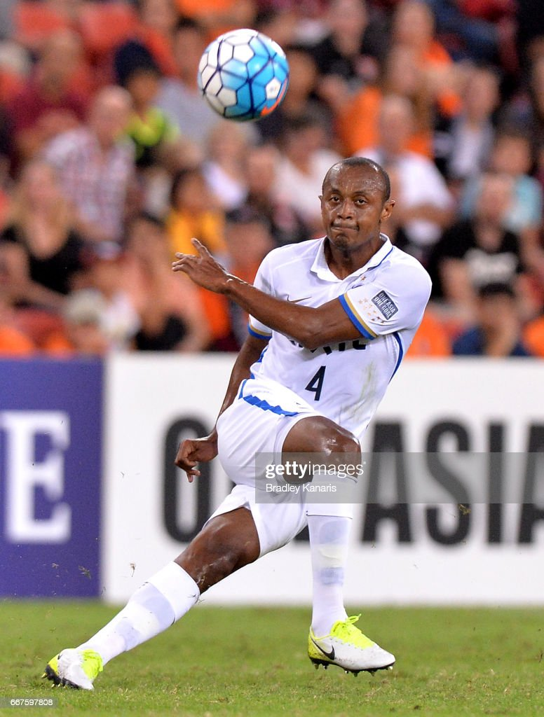 Leo Silva of the Antlers in action during the AFC Asian Champions League Group Stage match between the Brisbane Roar and Kashima Antlers at Suncorp Stadium on April 12, 2017 in Brisbane, Australia.