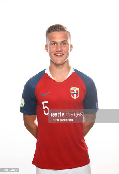 Leo Skiri Ostigaard of Norway during G19 Men Photocall at Thon Arena on July 11 2018 in Lillestrom Norway