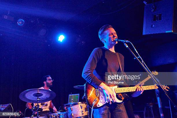 Leo Suarez and Carson Cox of Merchandise perform at The Lexington on November 2 2016 in London England