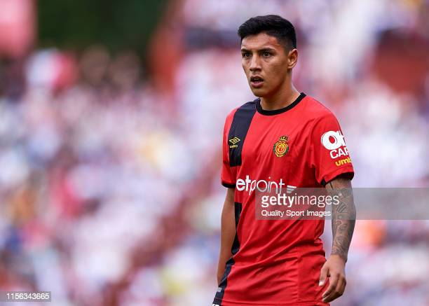 Leo Suarez of Mallorca looks on during the LaLiga 123 match between Albacete and Mallorca at Carlos Belmonte Stadium on June 16 2019 in Albacete Spain