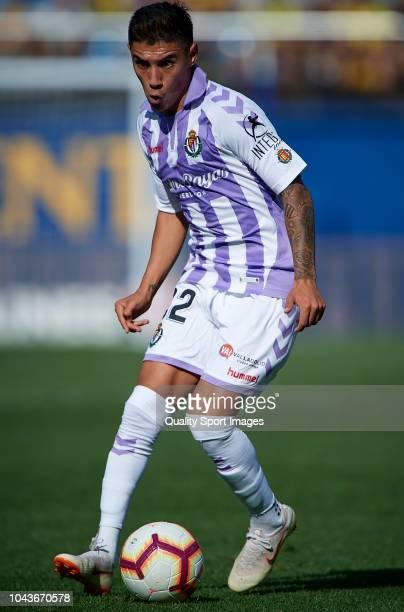 Leo Suarez of Real Valladolid in action during the La Liga match between Villarreal CF and Real Valladolid CF at Estadio de la Ceramica on September...