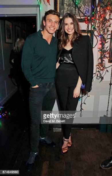 Leo Suter and Margaret Clunie attend Mulberry's 'It's Not Quite Christmas' party on November 15 2017 in London England