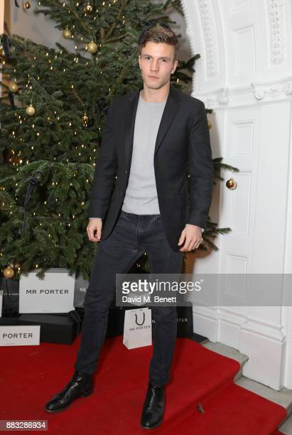 Leo Suter attends a party hosted by NETAPORTER and MR PORTER to celebrate the festive season in style at One Horse Guards on November 30 2017 in...