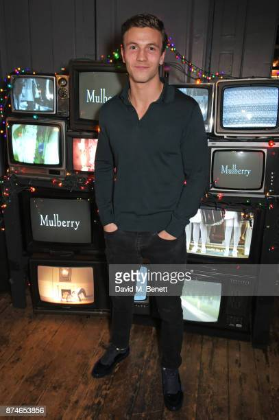 Leo Suter attends Mulberry's 'It's Not Quite Christmas' party on November 15 2017 in London England