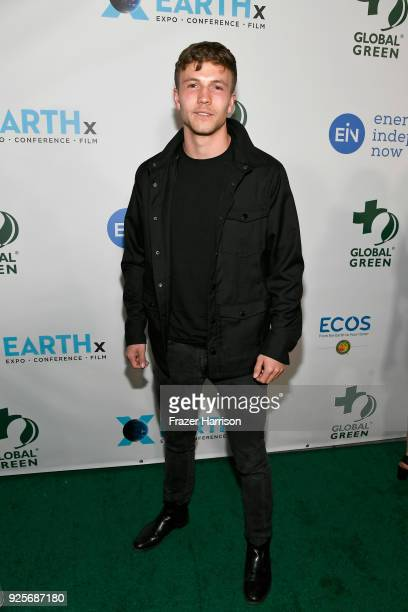 Leo Suter attends the 15th Annual Global Green Pre Oscar Party at NeueHouse Hollywood on February 28 2018 in Los Angeles California