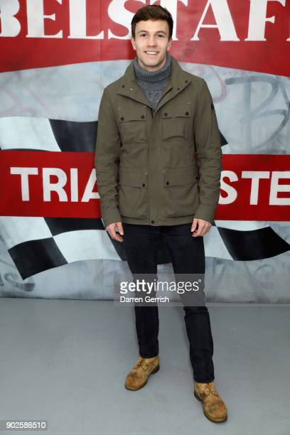 Leo Suter attends the Belstaff AW18 Mens Womens Presentation during London Fashion Week Men's January 2018 on January 8 2018 in London England