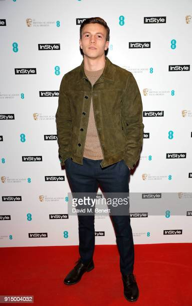Leo Suter attends the InStyle EE Rising Star Party Ahead Of The EE BAFTAs at Granary Square on February 6 2018 in London England