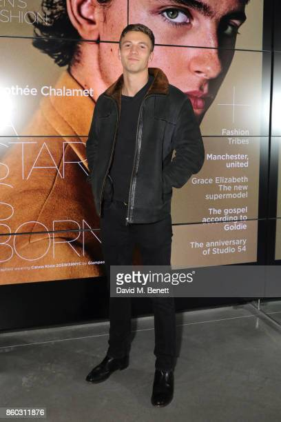 Leo Suter attends the launch of the GQ Style Autumn/Winter issue at 18montrose Kings Cross on October 11 2017 in London England