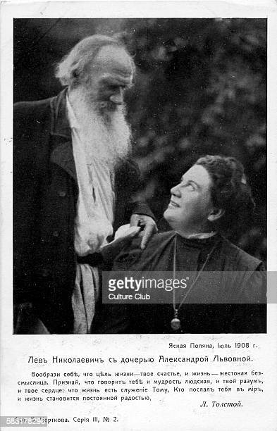 Leo Tolstoy and Countess Sophia his wife on the Yasnaya Polyana estate Tolstoy Russian novelist 9 September 1828 20 November 1910 Sophia 18441919