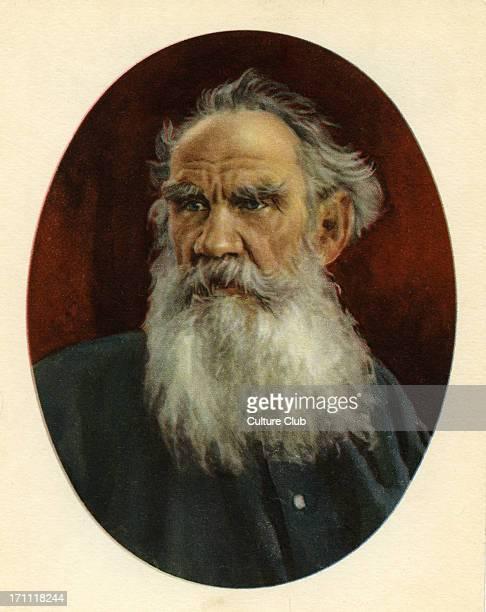 Leo Tolstoy - portrait of the Russian writer, aesthetic philosopher, moralist and mystic, September 9 1828-November 20 1910