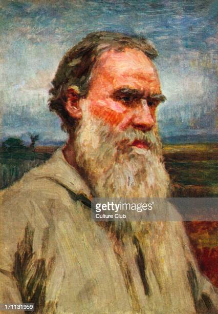 Leo Tolstoy - portrait of the Russian writer, aesthetic philosopher, moralist and mystic 1828-1910