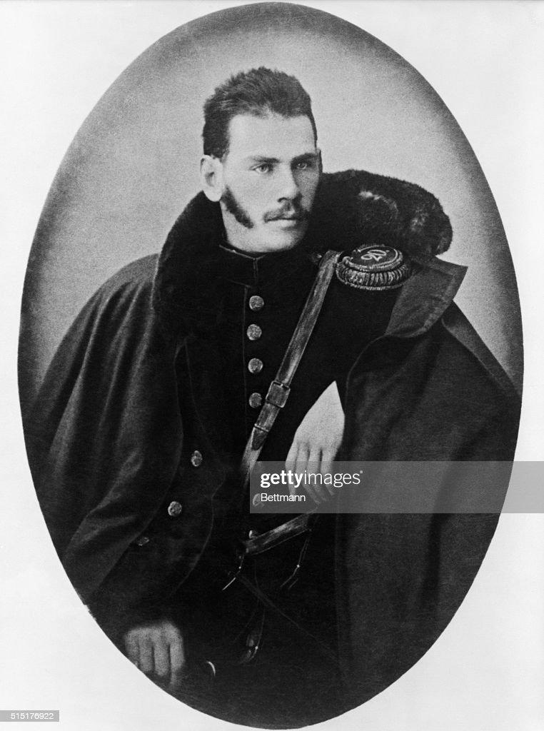 Novelist Leo Tolstoy as Crimean Army Officer : News Photo