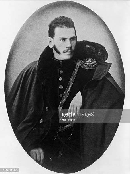 Leo Tolstoy , Russian novelist and moral philosopher. Shown as a Crimean Army officer. Undated photo.