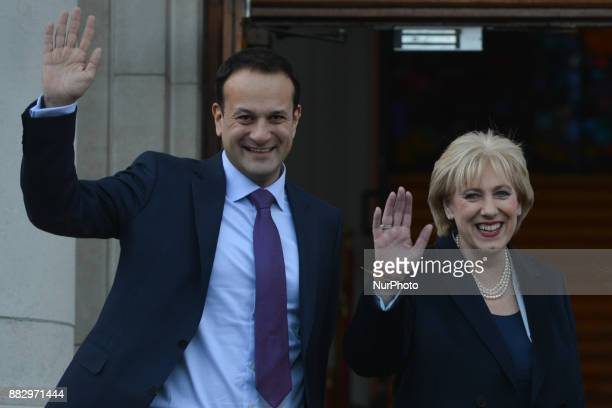 Leo Varadkar and Heather Humphries at the Government overnment Buildings this afternoon Ireland's prime minister Leo Varadkar names Foreign Minister...