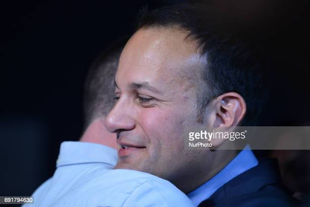Leo Varadkar congratulated by his partner at the Mansion House in Dublin where he was elected the new leader of Fine Gael and on course to become...
