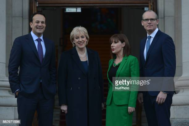 Leo Varadkar Heather Humphries Ruth Furney and Simon Coveney at the Government overnment Buildings this afternoon Ireland's prime minister Leo...