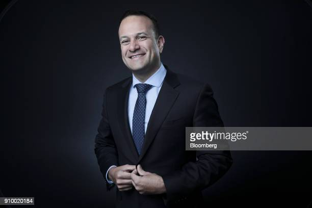 Leo Varadkar Ireland's prime minister poses for a photograph following a Bloomberg Television interview poses for a photograph following a Bloomberg...