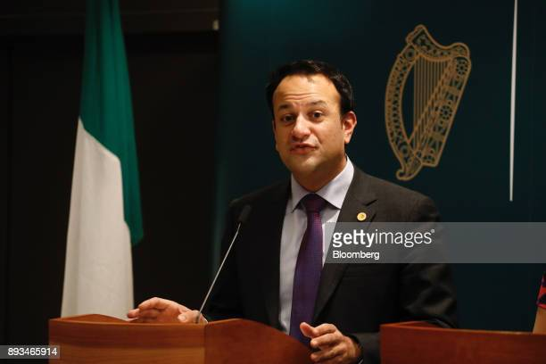 Leo Varadkar Ireland's prime minister speaks during a news conference at a summit of 27 European Union leaders in Brussels Belgium on Friday Dec 15...