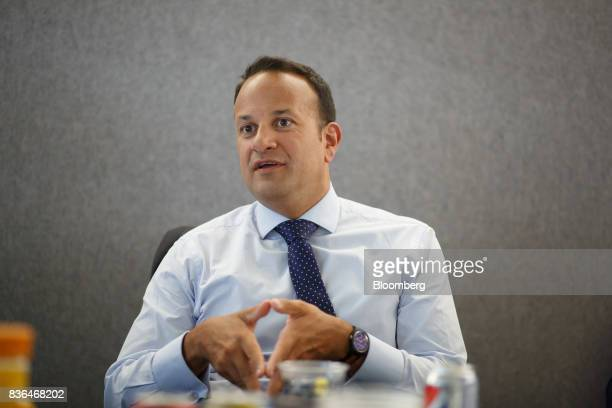 Leo Varadkar Ireland's prime minister speaks during an interview in Toronto Ontario Canada on Aug 21 2017 Varadkar said he remains 'confused and...