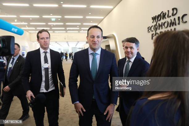 Leo Varadkar Ireland's prime minister walks between sessions on day three of the World Economic Forum in Davos Switzerland on Thursday Jan 24 2019...