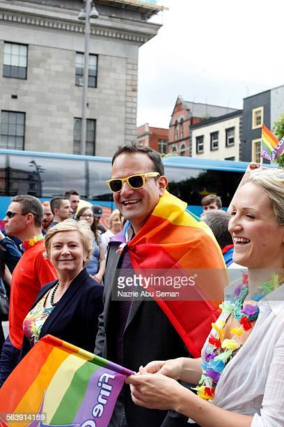 Leo Varadkar Minister for health march at Dublin Gay pride parade 2015 27th June 2015