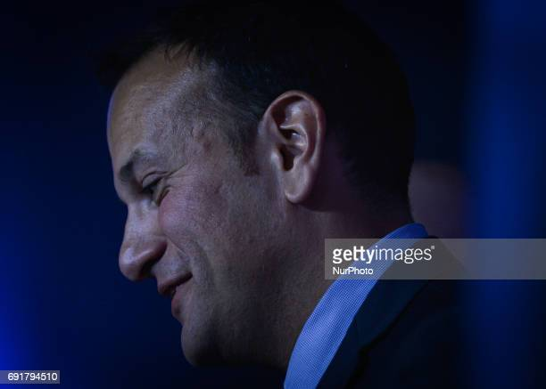 Leo Varadkar speaks to the crowd at the Mansion House in Dublin where he was elected the new leader of Fine Gael and on course to become Irelands...