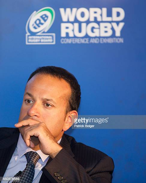 Leo Vardadkar TD Minister for Transport Tourism and Sport Ireland pictured at the iRB World Rugby Conference and Exhibition at the Ballsbridge Hotel...