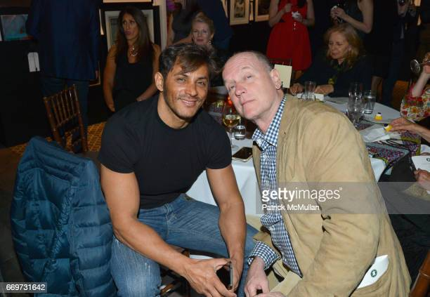 Leo Vasiliou and Ricky Clifton attend The Turtle Conservancy's 4th Annual Turtle Ball at The Bowery Hotel on April 17 2017 in New York City