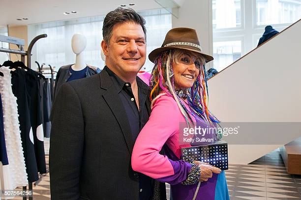 Leo Villareal and Deb Windham pose for a photo at Barneys New York on January 29 2016 in San Francisco California