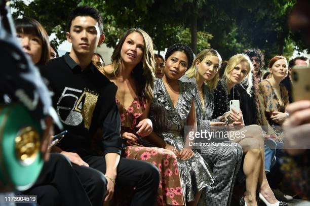 Leo Wu, Sutton Foster, Yalitza Aparicio, Kate Hudson, Nicole Kidman, and Karen Elson attend the Michael Kors Collection Spring 2020 Runway Show on...