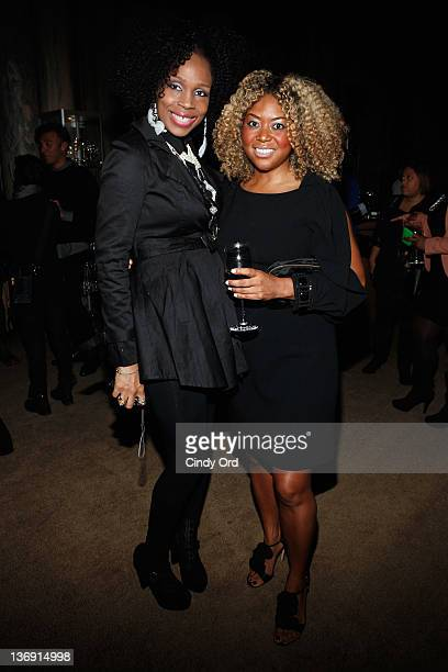 Leola Anifowoshe and Titi Branch attend the Target salute to Miko Branch and Titi Branch to celebrate being named two of Ebony Magazine's Power 100...