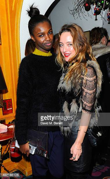 Leomie Anderson and Alice Temperley attend Veuve Clicquot Style Party at Annabel's on November 26 2013 in London England