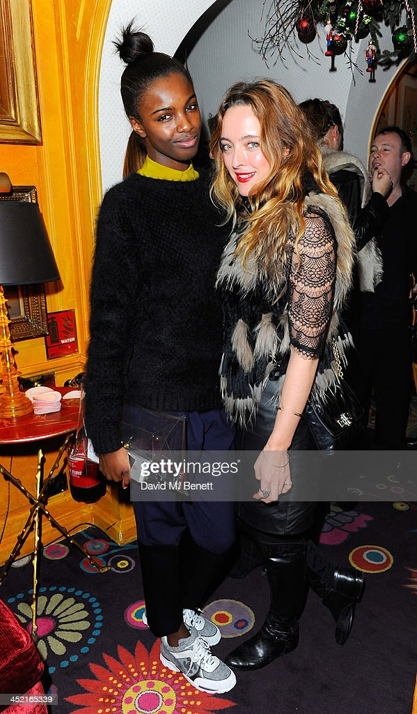 Leomie Anderson and Alice Temperley attend Veuve Clicquot Style Party at Annabel's on November 26, 2013 in London, England.