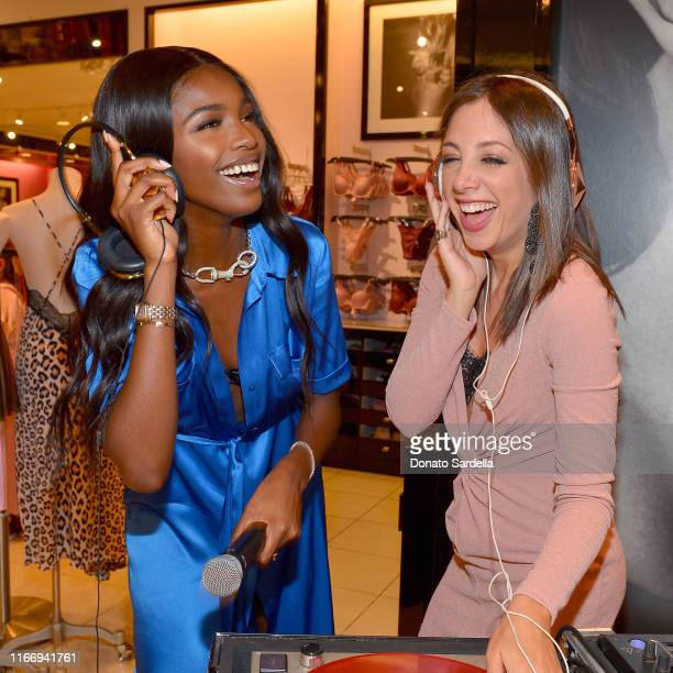 Leomie Anderson and Lindsay Luv DJ Victoria's Secret Debuts New Fall Collection with Angel Leomie Anderson in Los Angeles on August 08 2019 in Los...