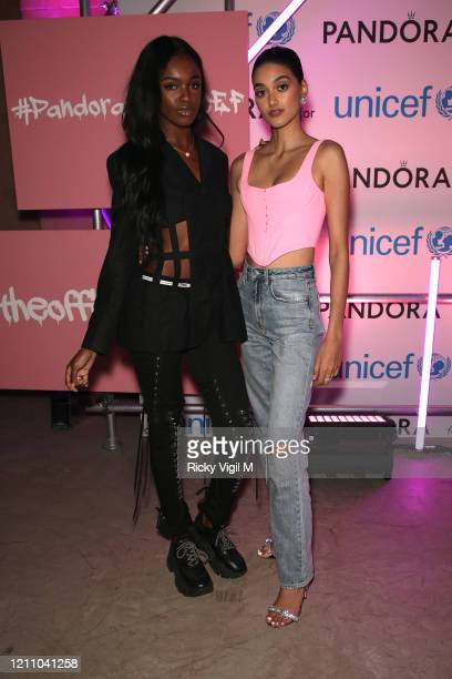 Leomie Anderson and Neelam Gill celebrates International Women's Day with Pandora at the Charms for Change event at Exhibition London on March 07...