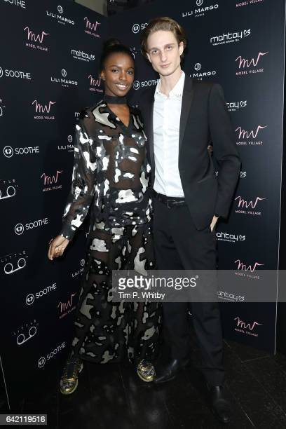 Leomie Anderson and William Soulier attend the Model Village Launch for the GameChanging Influencer App at Little Tape on February 16 2017 in London...
