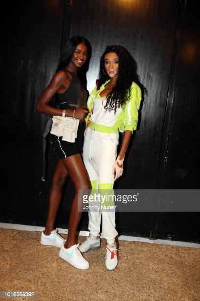 Leomie Anderson and Winnie Harlow attend Jeremih In Concert at PlayStation Theater on August 13 2018 in New York City