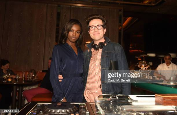 Leomie Anderson are Nick Grimshaw are seen at Nick Grimshaw's Sexy Brunch at Sexy Fish on May 21 2017 in London England