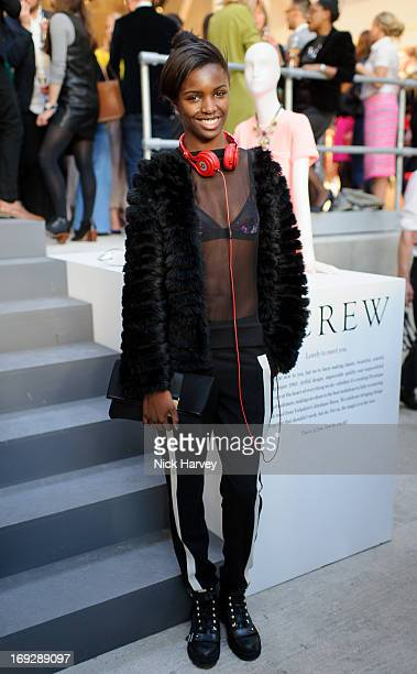 Leomie Anderson attend private event to celebrate JCrew And Central Saint Martins partnership at JCrew on May 22 2013 in London England