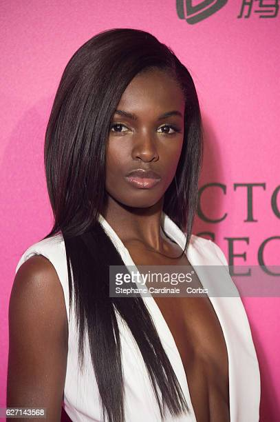 Leomie Anderson attends '2016 Victoria's Secret Fashion Show' after show photocall at Le Grand Palais on November 30 2016 in Paris France