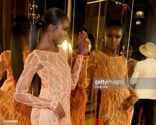 Leomie Anderson attends as Harper's BAZAAR Celebrates ICONS By Carine Roitfeld at the Plaza Hotel on September 7 2018 in New York City