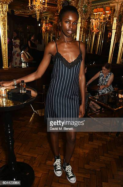 Leomie Anderson attends as Sarah Jessica Parker launches her latest fragrance 'Stash' available nationwide at Superdrug and Boots from the 14th...