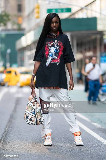 Leomie Anderson attends casting for the 2018 Victoria's Secret Fashion Show in Midtown on September 5 2018 in New York City