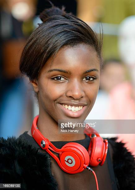 Leomie Anderson attends private event to celebrate JCrew And Central Saint Martins partnership at JCrew on May 22 2013 in London England